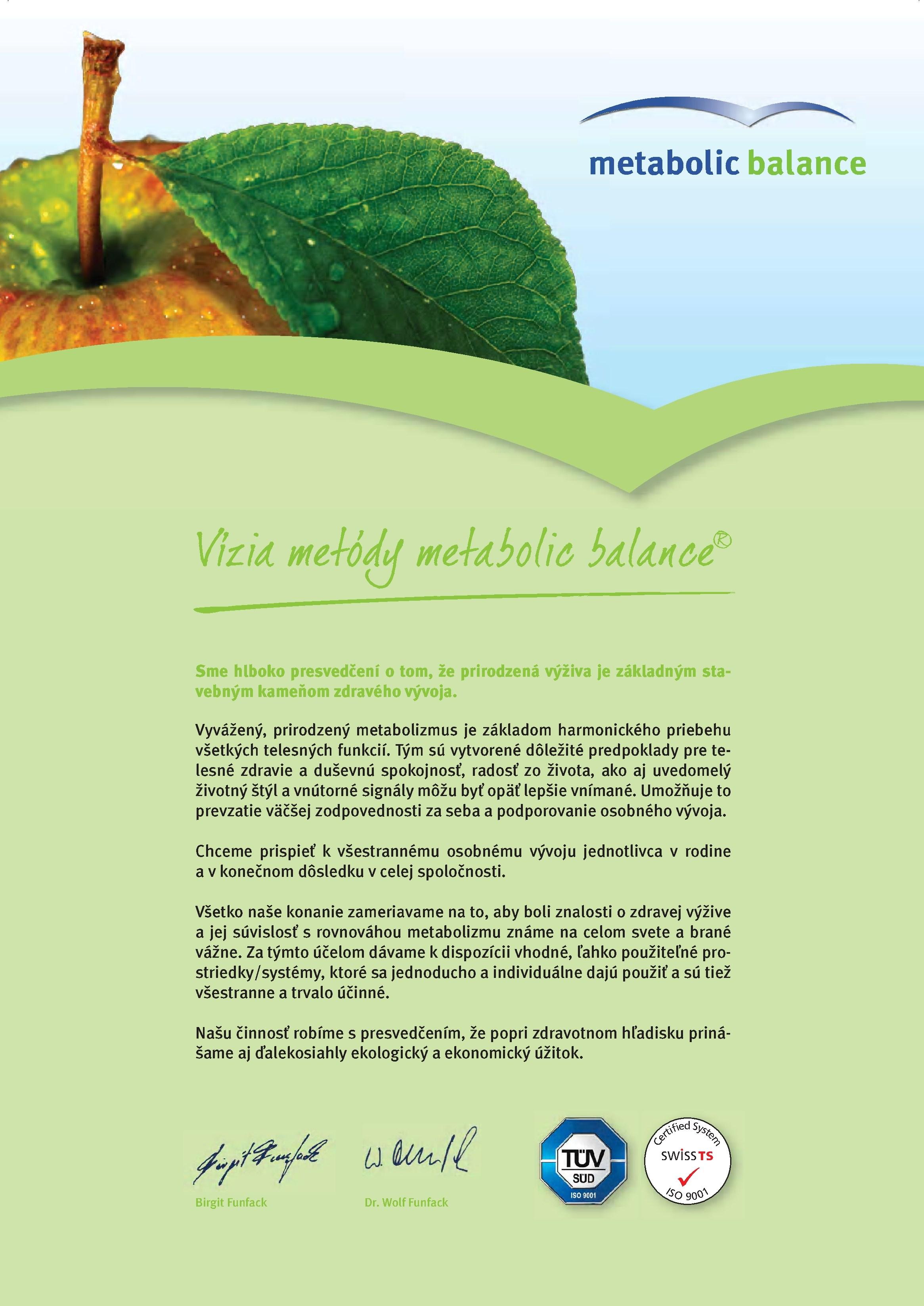 Vízia metabolic balance®
